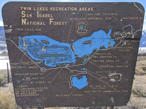 Maps for trails camping hiking mountain biking and paddling in Lake county and chaffee county colordo